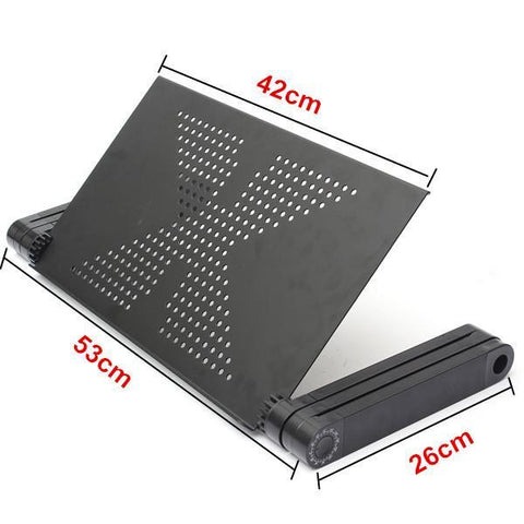 Image of Folding Stand Laptop Notebook Reading Table with Mouse Holder-Universal Store London™