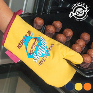 Food Vintage Coconut Kitchen Mitten-Universal Store London™
