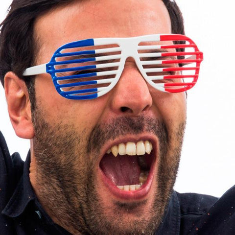 Image of French Flag Shutter Glasses-Universal Store London™