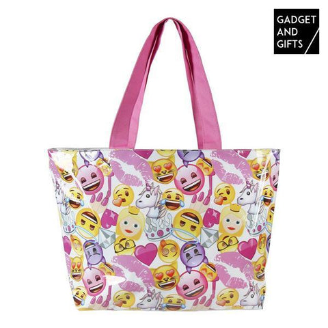 Image of Gadget and Gifts Fashion Emojis Beach Bag-Universal Store London™