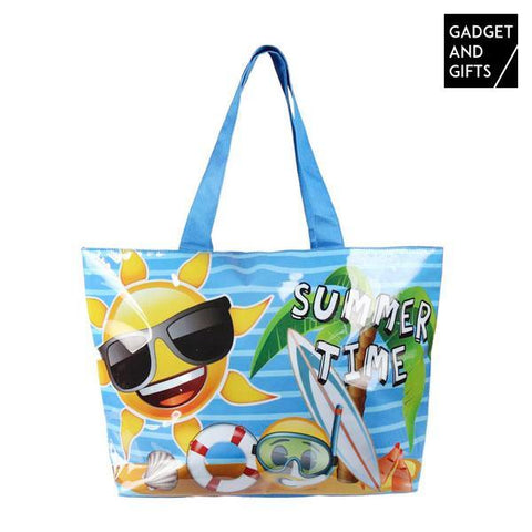 Image of Gadget and Gifts Summer Time Emojis Beach Bag-Universal Store London™