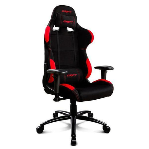 Gaming Chair DRIFT DR100BR 90-160º Cloth Foam Black Red-Universal Store London™