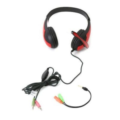Image of Gaming Headset Omega Freestyle FH4008R Red-Universal Store London™