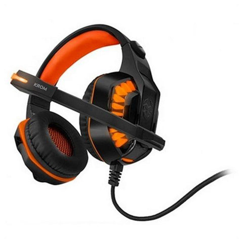 Gaming Headset with Microphone KROM NXKROMKNR Konor Ultimate | Orange/Black-Universal Store London™