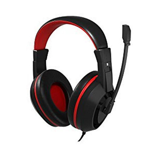 Image of Gaming Headset with Microphone Tacens MAH0+ 32Ω 15mW Ultra Bass Black Red-Universal Store London™