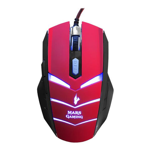 Gaming Mouse Tacens MMVU1 MMVU1 USB Black Red-Universal Store London™