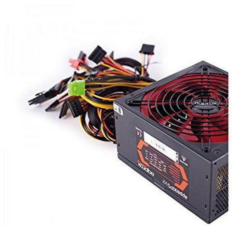 Gaming Power Supply approx! APP800PSv2 14 cm APFC 800W Black Red-Universal Store London™