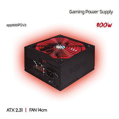Image of Gaming Power Supply approx! APP800PSv2 14 cm APFC 800W Black Red-Universal Store London™