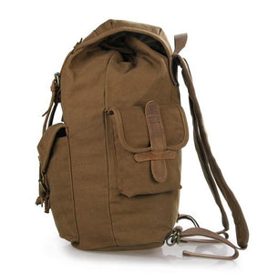 Genuine Leather and Canvas Classic Backpack-Universal Store London™