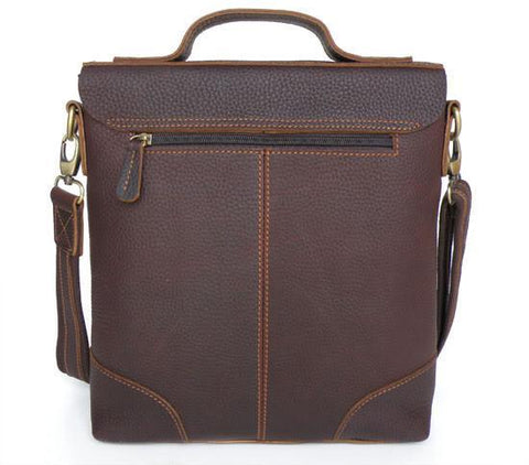 Image of Genuine Leather Briefcase Messenger Bag-Universal Store London™