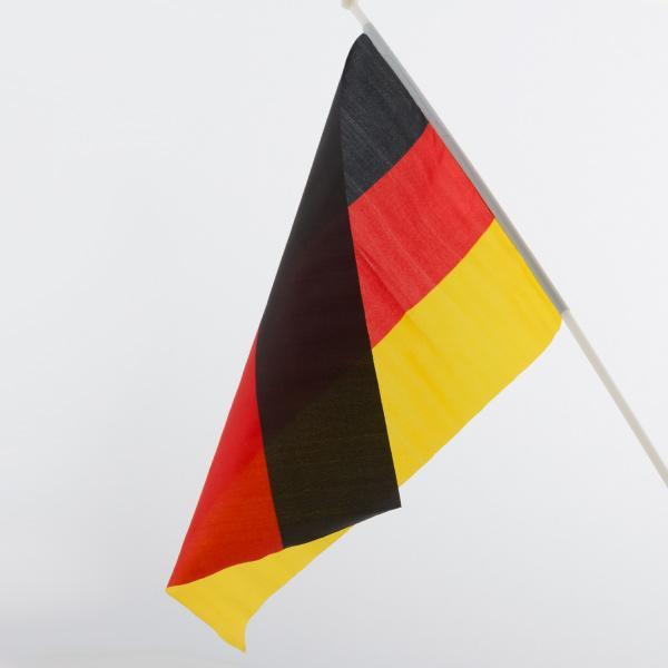 German Flag with Pole (46 x 30 cm)-Universal Store London™
