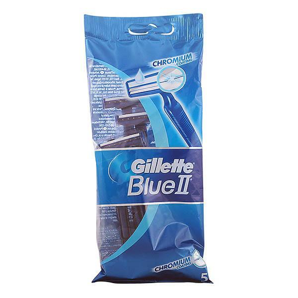 Gillette - BLUE II chromium coating cuchilla afeitar desechable 5 uds.-Universal Store London™