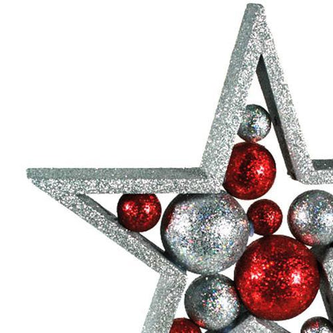 Image of Glitter Christmas Star with Balls-Universal Store London™