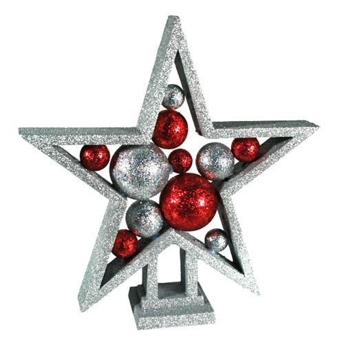 Glitter Christmas Star with Balls-Universal Store London™