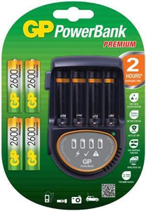 GP PB50 2 Hour Universal Battery Charger Worldwide Voltage Feature (100-240v)-Universal Store London™