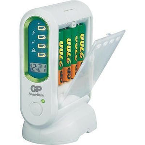 GP PB80 15 minute Universal battery charger Worldwide Voltage feature (100-240V)-Universal Store London™