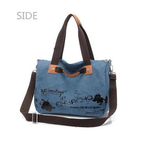 Image of Graffiti Canvas Handbag Shoulder Bag Cross Body Bag-Universal Store London™