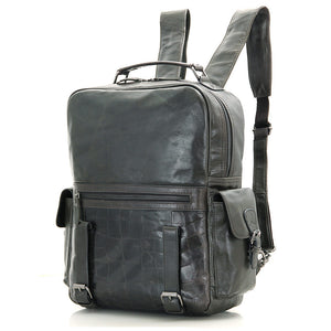 'Mount' Leather Backpack - Dark Grey-Universal Store London™