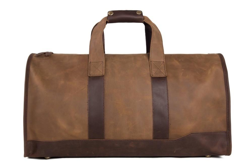 Handmade Brown Genuine Leather Duffle Travel Bag-Universal Store London™
