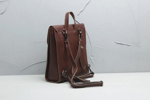 Handmade Full Grain Leather Backpack for Women-Universal Store London™