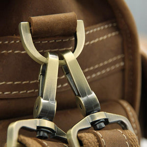 Handmade Genuine Leather Satchel - Light Brown-Universal Store London™