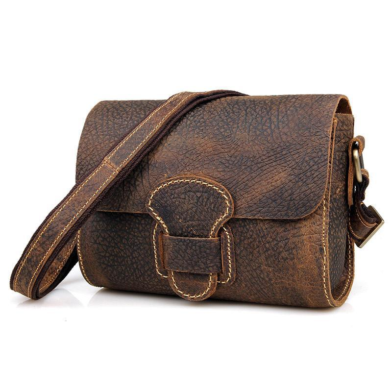 Handmade Small Classic Grain Leather Vintage Women's Across Body Bag-Universal Store London™