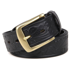 Handmade Vegetable Tanned Italian Leather Belt One Size - USLB014A-Universal Store London™