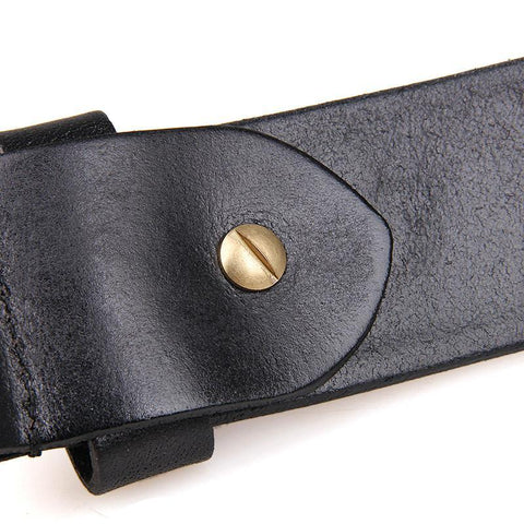 Image of Handmade Vegetable Tanned Italian Leather Belt One Size - USLB014A-Universal Store London™