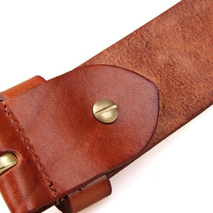 Handmade Vegetable Tanned Italian Leather Belt One Size - USLB014B-1-Universal Store London™