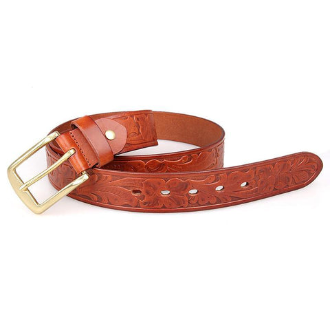 Image of Handmade Vegetable Tanned Italian Leather Belt One Size - USLB014B-1-Universal Store London™