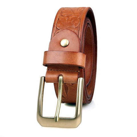 Image of Handmade Vegetable Tanned Italian Leather Belt One Size - USLB014B-Universal Store London™