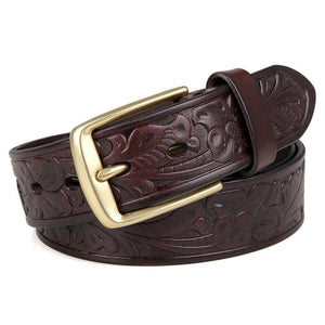 Handmade Vegetable Tanned Italian Leather Belt One Size - USLB014Q-Universal Store London™