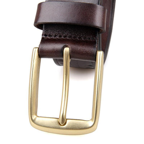 Image of Handmade Vegetable Tanned Italian Leather Belt One Size - USLB014Q-Universal Store London™