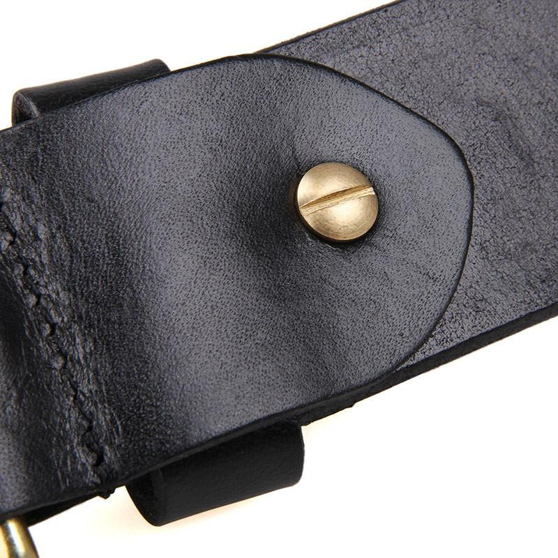 Handmade Vegetable Tanned Italian Leather Belt One Size - USLB015A-Universal Store London™