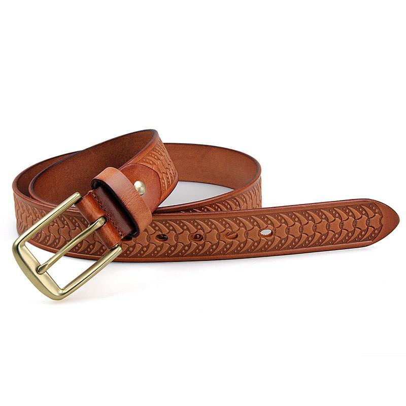 Handmade Vegetable Tanned Italian Leather Belt One Size - USLB015B-Universal Store London™