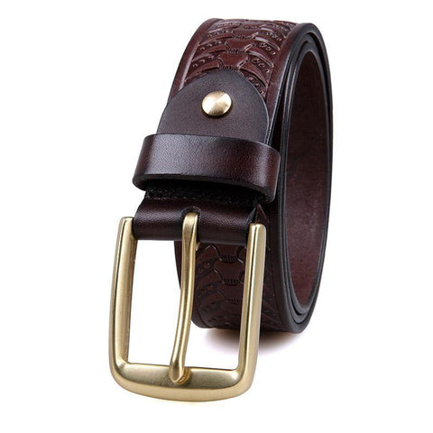 Image of Handmade Vegetable Tanned Italian Leather Belt One Size - USLB015Q-Universal Store London™