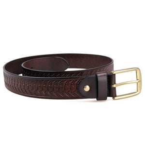 Handmade Vegetable Tanned Italian Leather Belt One Size - USLB015Q-Universal Store London™