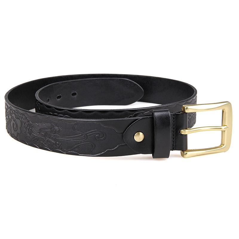 Handmade Vegetable Tanned Italian Leather Belt One Size - USLB016A-Universal Store London™