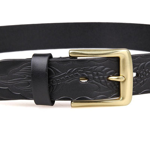 Image of Handmade Vegetable Tanned Italian Leather Belt One Size - USLB016A-Universal Store London™