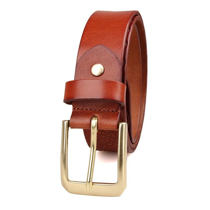 Handmade Vegetable Tanned Italian Leather Belt One Size - USLB016B-1-Universal Store London™
