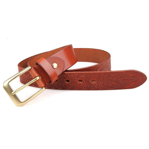 Image of Handmade Vegetable Tanned Italian Leather Belt One Size - USLB016B-1-Universal Store London™