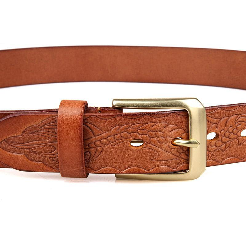 Handmade Vegetable Tanned Italian Leather Belt One Size - USLB016B-Universal Store London™