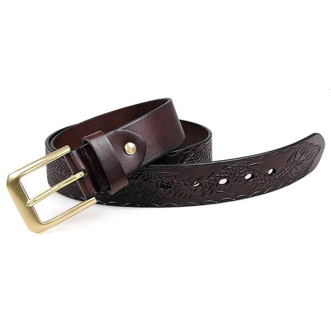Image of Handmade Vegetable Tanned Italian Leather Belt One Size - USLB016Q-Universal Store London™