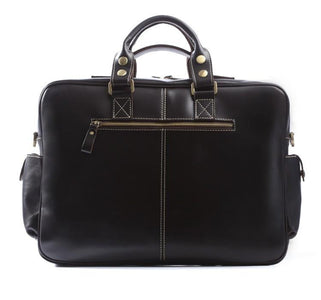 Handmade Vintage Leather Business Travel Bag Messenger Bag - Black-Universal Store London™