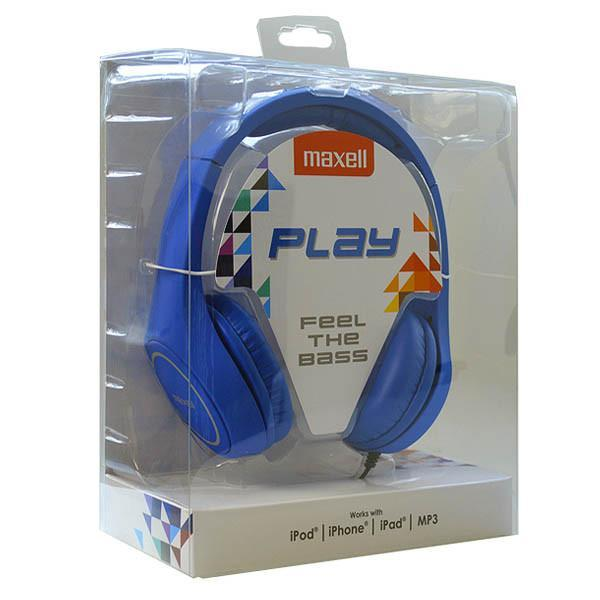 Headphones Maxell Play MXH-HP500 Blue Headband-Universal Store London™