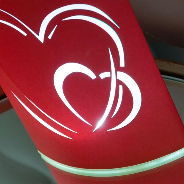 Heart LED Paper Lanterns (pack of 2)-Universal Store London™