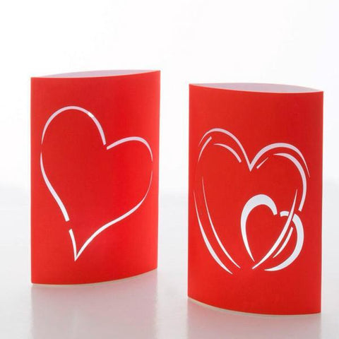 Image of Heart LED Paper Lanterns (pack of 2)-Universal Store London™
