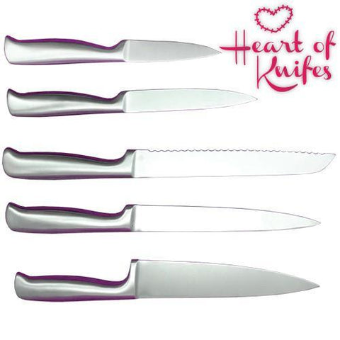 Image of Heart of Knives Set with Knife Block-Universal Store London™