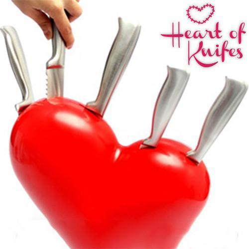 Heart of Knives Set with Knife Block-Universal Store London™