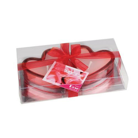 Heart-Shaped Scented Candles (set of 2)-Universal Store London™